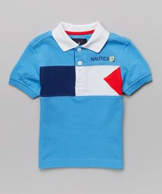 Love this Blue Pique Polo - Toddler & Boys by Nautica on #zulily! #zulilyfinds            12.99