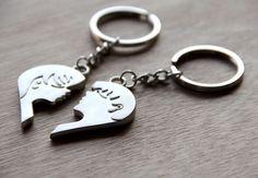 His Hers Valentine Keychain