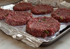 The Best Steakhouse Burgers - Once Upon a Chef- TESTED & PERFECTED RECIPE – These are the ultimate steakhouse burgers. And they're reliably tender and juicy, even when cooked to well done. Grilled Hamburger Recipes, Homemade Hamburger Patties, Homemade Hamburgers, Hamburger Steak In Oven, Best Hamburger Patty Recipe, Best Homemade Burgers, Hamburger Seasoning, Grilling Recipes, Cooking Recipes