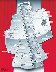 Filmfestivals in Deutschland: Eine schöne, wenn auch lückenhafte Karte des ZEIT Magazins