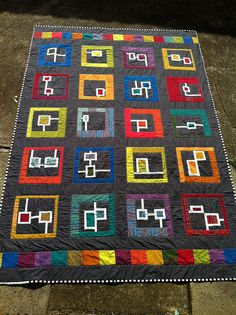 Circuit Boards Quilt Finished! by sparklygreenknickers, via Flickr