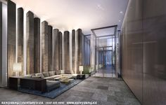 double height contemporary entrance lobby - Google Search