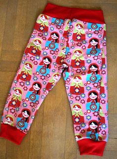 Cotton pants with babuscka pattern, for 2 years old girl :-) available at https://www.facebook.com/media/set/?set=a.1511685225744315.1073741829.1473655402880631&type=1