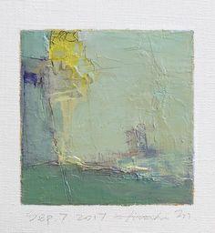 Il s'agit d'une peinture à l'huile abstraite par Hiroshi Matsumoto Titre: Septembre 7, 2017 Taille: 9,0 cm x 9,0 cm (environ 4 x 4) Toile taille: 14,0 cm x 14,0 cm (env. 5,5 x 5,5) Technique: Huile sur toile Année: 2017 C'est ma peinture tous les jours appelé tableau de 9 x 9 et le titre est la date que j'ai créé cette peinture. Peinture est livré avec un tapis. Peinture est feutré en écru pour s'adapter à cadre standard 8 pouces x 10 pouces (non inclus) et livré avec le certificat d...