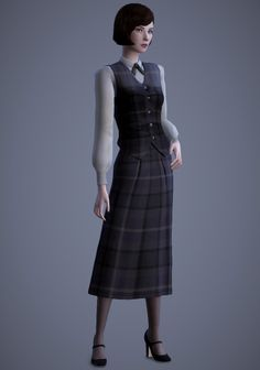 Scholar Vest and Skirt by Magnolian | Farewell