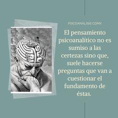 De eso se trata venir aquí... un espacio de análisis es venir y estar dispuesto a cuestionar, a poner en duda lo que sabes de ti y de la forma en que te has venido relacionando. Es generar pensamiento nuevo, crítico, ese que es generador de verdaderos cambios, ese que es capaz de lograr que seas tú quien escriba su propia historia. #psicoanálisiscdmx #piénsalobien #psicoanálisis #certezas #dejardepensar #cuestionamientos #preguntas #cuestionarderaíz #seguirpendando #atenciónonline… Tinkerbell, Shape, Scribe, Submissive, Stop Thinking, Space, Thoughts, Historia