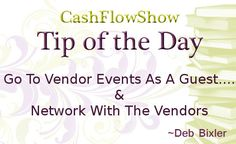 Network at Vendor events with the vendors for leads on the DSWA Blog by party plan expert @DebBixler.com, Direct Sales & Healthy Living - http://www.mydswa.org/finding-business/networking-with-vendors
