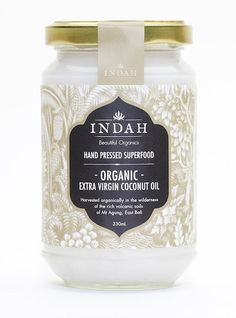 Peachy Clean Organic Beauty - Indah Certified Organic Coconut Oil. Just some of the many uses for coconut oil include;    Lip balm, eye makeup remover (suitable for even sensitive eyes), hair treatment, shine serum and de-frizz oil. As a healthy cooking oil, nappy rash, to help prevent stretch marks during pregnancy, body moisturiser, massage oil, as a daily supplement to promote energy, boost metabolism and aid digestion and healthy thyroid function when used daily, body balm, face…