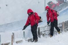 Fotograf Kassel| Vorbereitung des Absprungturm | FIS Continental Cup Skispringen | Engelberg / Schweiz http://blog.ks-fotografie.net/pressefotografie/continental-cup-2014-engelberg-pressebildarchiv/