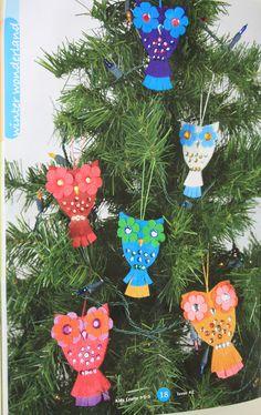 midwestmaude: Jeweled Felt Owl Ornaments