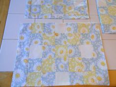 5pc Reversible Spring Daisy Placemat Set with by ColdStreamCrafts