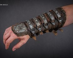 Set Of Postapocalyptic Vambraces - Arm Protector - Fallout Bracer - Mad Max Vambrace- Dystopian Armor - Wasteland Warrior Bracer Mad Max, Fallout Raider, Armadura Steampunk, Diesel Punk, Moda Steampunk, Larp Armor, Skyrim Armor, Tactical Armor, Wasteland Warrior