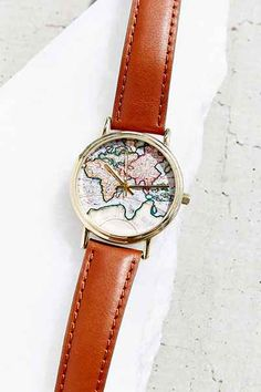 WAAANNNTTT!!!!!!!!! Around The World Leather Watch - Urban Outfitters