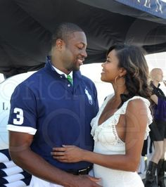 Love is in the air...Dwyane Wade and Gabrielle Union