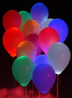 LED balloons that glow in the dark!