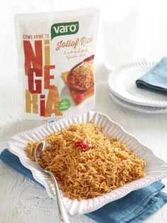 Varo Jollof Rice on Packaging of the World - Creative Package Design Gallery Jollof Reis, Packaging Design Inspiration, Cool Fonts, Rice, Package Design, Creative Package, Gallery, Food, Branding