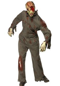 Zombie Gas Mask Costume