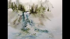 This painting was accomplished using transparent watercolors on a quarter sheet ( x of 140 lb cold press Lanaquarelle watercolor paper. Watercolor Art Face, Watercolor Video, Watercolor Water, Watercolor Pictures, Watercolor Landscape Paintings, Watercolour Tutorials, Watercolor Techniques, Watercolor Lesson, Simple Watercolor