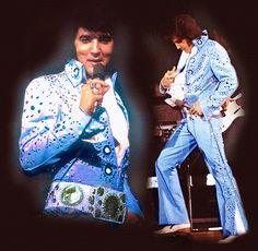 Elvis Presley in blue