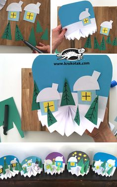 45 Ideas diy christmas projects crafts for kids for 2019 Winter Art Projects, Winter Crafts For Kids, Winter Kids, Diy For Kids, Winter Snow, Preschool Winter, Christmas Projects, Winter Christmas, Kids Christmas