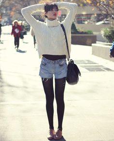 street-style-short-meia-calca-e-oxford
