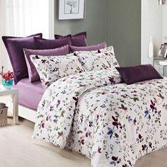 Lara Duvet Cover Set: Daniadown Bed Bath & Home Grey Comforter Sets, Duvet Sets, Duvet Cover Sets, Purple Bedspread, Casa Anime, Double Duvet Covers, Bed Sets, New Wall, Home Decor Bedroom