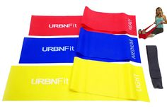 Long Fitness Bands (5 Ft) w/Door Anchor - URBNFit - 3 Pack of Resistance Bands for Stretching, Workouts, Rehabilitation. Professional Grade Flat Stretch Bands Are Essential For Every Home Gym >>> Insider's special review you can't miss. Read more  : Weight loss Accessories