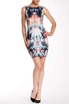 Canopy Neoprene V-Back Dress by Nicole Miller on @nordstrom_rack