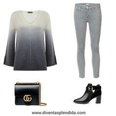#outfit  #grigio #jeans Segui 💖💖💖  www.diventasplendida.com 💖💖💖