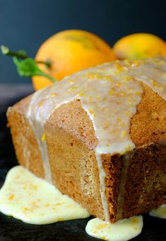 Orange Walnut Bread is bursting with fresh orange flavor and a nutty crunch from the walnuts. This easy quick bread is topped off with a slightly sweet orange glaze.