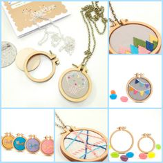 The Haby Goddess: New Product: Miniature Embroidery Hoop Kits Hand Embroidery Stitches, Embroidery Hoop Art, Cross Stitch Embroidery, Embroidery Patterns, Cross Stitch Patterns, Cross Stitching, Embroidery Shop, Diy Broderie, Mini Cross Stitch
