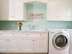 Uppercase Living perfect for the laundry and bathrooms :)