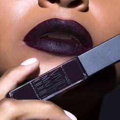 Feelin' rebellious in a dark lip with #vividmatte liquid in 'possessed plum'.