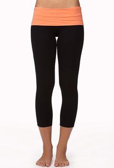 Contrast Foldover Yoga Capris. £8.25.
