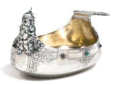 Faberge-Gemset and Silver Kovsh 1899-1908 - Sothebys