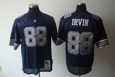 Dallas Cowboys #88 Michael Irvin Navy Blue Throwback Jersey