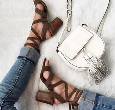 Loving my new #shoesdaytuesday lace-up sandals!! You can shop them by registering your email with @LIKEtkit