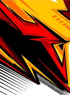Abstract pattern for sport team jersey Vector Graffiti Wallpaper, Graphic Wallpaper, Wallpaper Backgrounds, Graphic Pattern, Sports Fonts, Sports Logo, Sports Graphic Design, Racing Stripes, Grafik Design