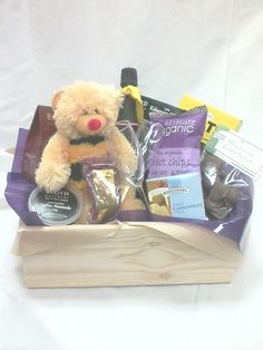 Friendship Bear Hamper from Sendabasketsa - Unley. South Australia. www.facebook.com/... All those special occasions. Flower arrangements and Poseys, Fresh and Silk sent seperately or include in your Gift Basket, Gourmet Hamper or Box, 'Mothers' Day' 'Fathers Day' 'New Baby' 'Anniversary' 'Birthday' 'Happy Easter' 'Merry Christmas', 'Congratulations - 'Promotion' 'New Job' 'New Home' and more.