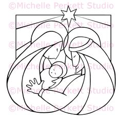 Items similar to Digital Stamp Nativity Christmas Holy Family Jesus Mary Joseph Manger Stamping Cardmaking Scrapbooking on Etsy Christmas Rock, Christmas Nativity, Christmas Colors, Christmas Projects, Coloring Books, Coloring Pages, Jesus Mary And Joseph, Stained Glass Christmas, Holy Family