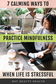 // Here are the different ways I like to practice mindfulness in my daily life. One of my favorite ways is through meditation by using the Guided Meditation skill for Alexa on my Echo Dot. Alexa is the perfect assistant to guide me throu Health And Wellness Quotes, Wellness Tips, Health And Wellbeing, Health And Nutrition, Health Fitness, What Is Mindfulness, Wellness Activities, Mind Relaxation, Guided Meditation
