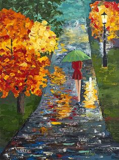 """""""Walk in the rain"""" by Robin Taylor"""