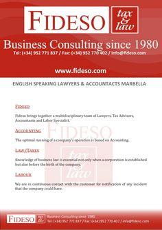 Fideso Marbella - downloadable brochure About Our Company