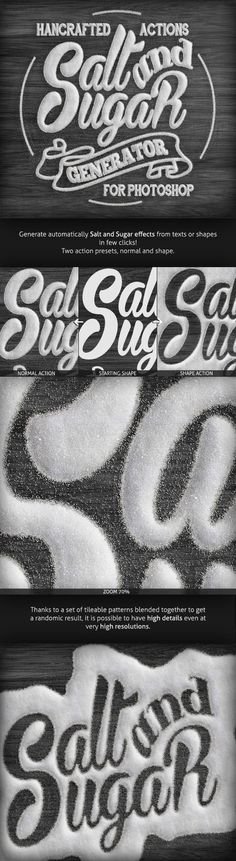 Salt & Sugar Generator - Photoshop Actions by Nuwan Panditha, via Behance