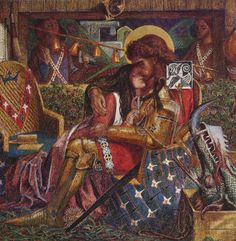 The wedding of Saint George and Princess Sabra Artist: Dante Gabriel Rossetti Completion Date: 1857