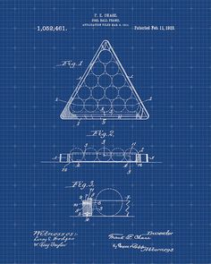 Patent Print  Pool Ball Frame Patent  Patent Art  by VisualDesign