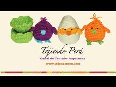 ▶ Pollitos tejidos en crochet (amigurumi) Parte 1 - YouTube