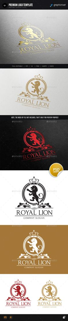 Royal Lion — Photoshop PSD #lion #luxury • Available here → https://graphicriver.net/item/royal-lion/9007702?ref=pxcr