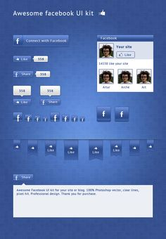 Free Alternative Facebook UI PSD UI - http://www.vectorarea.com/free-alternative-facebook-ui-psd-ui