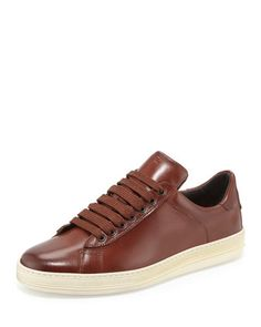 Russel Leather Low-Top Sneaker, Brown by TOM FORD at Neiman Marcus.